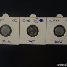 Monedas antiguas de Europa: ITALIA - 50 LIRAS 1992/1993/1995 - LOTE 3 MONEDAS MBC . Lote 134075990