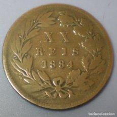 Monedas antiguas de Europa: 20 REIS BRONCE .REY LUIZ I DE PORTUGAL .AÑO 1.884 .BEC. . Lote 134202798