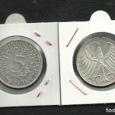 Monedas antiguas de Europa: PLATA-ALEMANIA 5 MARK 1957-F. 11,20 GRAMOS DE LEY 0,625. Lote 134297074