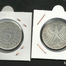 Monedas antiguas de Europa: PLATA-ALEMANIA 5 MARK 1958-D. 11,20 GRAMOS DE LEY 0,625. Lote 134297262