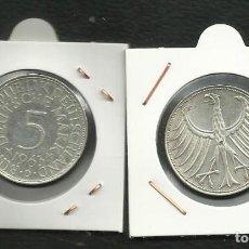 Monedas antiguas de Europa: PLATA-ALEMANIA 5 MARK 1963-D 11,20 GRAMOS DE LEY 0,625. Lote 134297658