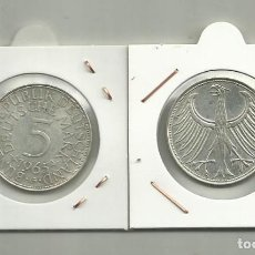 Monedas antiguas de Europa: PLATA-ALEMANIA 5 MARK 1965-G 11,20 GRAMOS DE LEY 0,625. Lote 134297794