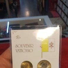 Monedas antiguas de Europa: BLISTER SOUVENIR VATICANO JUAN PABLO SEGUNDO 1000 LIRAS Y 200 LIRAS AÑO 2001. Lote 134364813