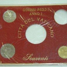 Monedas antiguas de Europa: ESTUCHE SOUVENIR MONEDAS GIOVANNI PAOLO II-ANNO I-CITTÀ DELVATICANO-INCOMPLETO-AÑOS 1970S. Lote 134365166