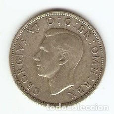 Monedas antiguas de Europa: B34 - GRAN BRETAÑA JORGE VI MEDIA CORONA PLATA LONDRES 1943. Lote 134365758