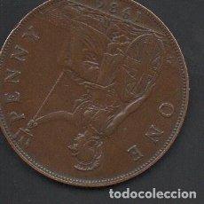 Monedas antiguas de Europa: REINO UNIDO, 1 PENIQUE 1936, GEORGE V, ESCASA, 27 MM.. Lote 134368390