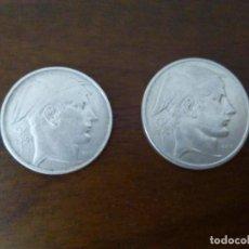 Monedas antiguas de Europa: 20 Y 50 FRANCOS DE PLATA. BÉLGICA AÑO 1951.. Lote 134555886