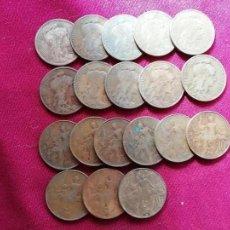 Monedas antiguas de Europa: FRANCIA. LOTE DE 19 MONEDAS ANTIGUAS DE 10 CENTIMES. AÑOS VARIADOS. Lote 135139438