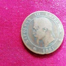 Monedas antiguas de Europa: FRANCIA. 10 CENTIMES DE 1861. Lote 135161966