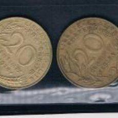 Monedas antiguas de Europa: 9 MONEDAS FRANCESAS DIFERENTES AÑOS. Lote 135169518