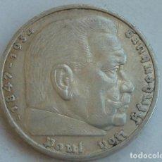 Monedas antiguas de Europa: MONEDA DE PLATA 5 MARCOS 1935 CECA A, BERLIN, ALEMANIA NAZI, MARISCAL PAUL VON HINDENBURG. Lote 135346022