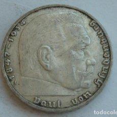 Monedas antiguas de Europa: MONEDA DE PLATA 2 MARCOS 1938 CECA A, BERLIN, ALEMANIA NAZI, MARISCAL PAUL VON HINDENBURG. Lote 135348842
