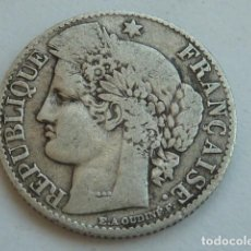 Monedas antiguas de Europa: MONEDA DE PLATA DE 50 CENTIMOS DE FRANCO DE FRANCIA, DIOSA CERES, DE 1873 A, CECA DE PARIS . Lote 135354234