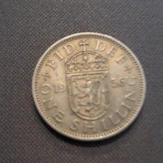 Monedas antiguas de Europa: GRAN BRETAÑA 1 CHELÍN ESCOCÉS 1956. Lote 135362690
