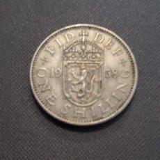 Monedas antiguas de Europa: GRAN BRETAÑA 1 CHELÍN ESCOCÉS 1958. Lote 135362806
