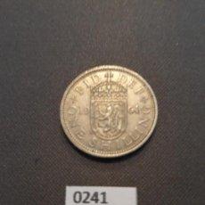 Monedas antiguas de Europa: GRAN BRETAÑA 1 CHELÍN ESCOCÉS 1961. Lote 135362934