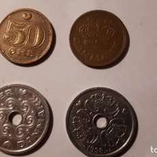 Monedas antiguas de Europa: LOTE 4 MONEDAS DE DINAMARCA. Lote 135523906