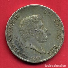 Monedas antiguas de Europa: MONEDA PLATA , ITALIA , G. 120 FERDINANDUS II 1845 , MBC+ , ORIGINAL , B21. Lote 135685011