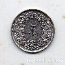 Monedas antiguas de Europa: SUIZA. 5 CÉNTIMOS. AÑO 1939. Lote 135749878