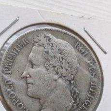 Monedas antiguas de Europa: RARA Y ESCASA MONEDA 5 FRANCS BÉLGICA 1848. Lote 135762126