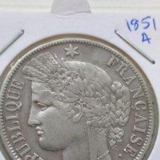 Monedas antiguas de Europa: 5 FRANCOS FRANCIA 1851 A PLATA. Lote 135765290