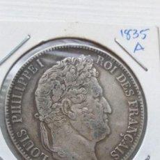 Monedas antiguas de Europa: RARA Y ESCASA MONEDA 5 FRANCS FRANCIA 1835 A PLATA. Lote 135765906