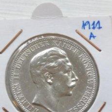 Monedas antiguas de Europa: RARA Y ESCASA MONEDA 3 MARKS PLATA IMPERIO ALÉMAN ESTADO PRUSIA 1911 A. Lote 135768602