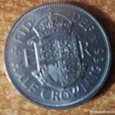 Monedas antiguas de Europa: REINO UNIDO INGLATERRA 1/2 CORONA 1966 ELISABETH II. Lote 135805518