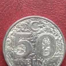 Monedas antiguas de Europa: 50 BIN LIRA 1998 TURQUÍA. KM#1056. Lote 135875270