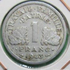 Monedas antiguas de Europa: FRANCIA. MONEDA DE 1 FRANCO. 1943.. Lote 136041334