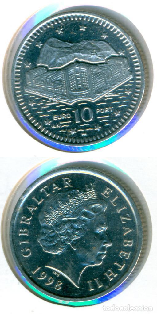 Gibraltar 10 Pence Peniques Euro Port 1998 Comprar Monedas