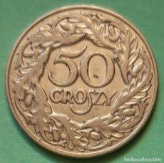 Monedas antiguas de Europa: POLONIA - 50 GROSZY 1923 - EBC - VISITA MIS OTROS LOTES Y AHORRA GASTOS DE ENVÍO. Lote 136149494