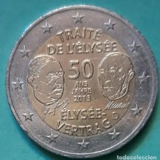 Monedas antiguas de Europa: ALEMANIA - 2 EURO 2013 - CONMEMORATIVA DE 50 AÑOS DE CONTRATO DE ELISEO - CECA J - EBC. Lote 176322780
