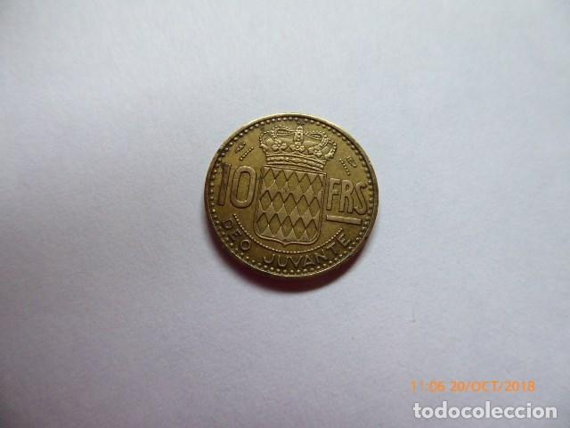 Monedas antiguas de Europa: monaco, 10 francos, 1950a, albronce. - Foto 2 - 137150130