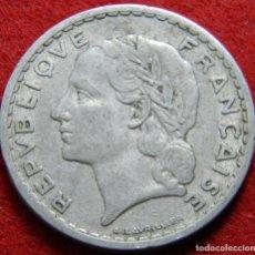 Monedas antiguas de Europa: FRANCIA - FRANCE – 5 FRANCS FRANCOS – 1949 – KRAUSE #KM 888B. Lote 137323086