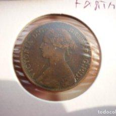 Monedas antiguas de Europa: GRAN BRETAÑA INGLATERRA- 1 FARTHING 1873 - REINA VICTORIA.. Lote 137341478