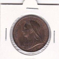 Monedas antiguas de Europa: BELLA MONEDA ONE PENNY INGLATERRA GRAN BRETAÑA REINO UNIDO REINA VICTORIA 1901 COBRE 1 SIN CIRCULAR . Lote 137543158