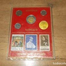 Monedas antiguas de Europa: SOUVENIR VATICANO. ORIGINAL VATICAN STAMPS. SELLOS Y MONEDAS. VER FOTOS. . Lote 138074378