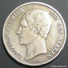Monedas antiguas de Europa: 5 FRANCOS BELGAS. PLATA DE 0,900. REY LEOPOLDO I. AÑO 1.865. MBC.. Lote 138684370