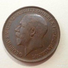 Monedas antiguas de Europa: MONEDA DE GORGE V DE 1912 ONE PENNY ( MBC ). Lote 138716658