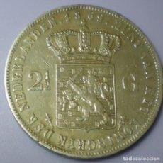Monedas antiguas de Europa: 2 Y 1/2 FLORINES (GULDEN). PLATA 0,945. HOLANDA AÑO 1.869.MBC.. Lote 138794490