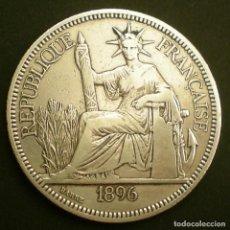 Monedas antiguas de Europa: FRANCIA: PAÍS INDOCHINA-FRANCESA.1 PIASTRA PLATA DE 0,900. AÑO 1.896. BEC. . Lote 138814330