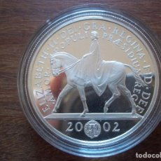 Monedas antiguas de Europa: 5 POUNDS INGLATERRA 2002 PLATA 925 PROOF 28GR ALTO VALOR RARA. Lote 138933398