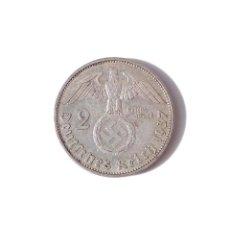 Monedas antiguas de Europa: ALEMANIA.- 2 MARCOS 1937. III REICH - PLATA - CRUZ GAMADA - ESVASTICA. Lote 139192834
