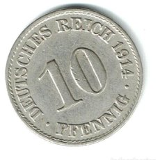 Monedas antiguas de Europa: ALEMANIA 10 PFENNIG 1914 A. Lote 139194726
