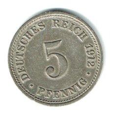 Monedas antiguas de Europa: ALEMANIA 5 PFENNIG 1912 D - MUY BONITA PIEZA. Lote 139198286