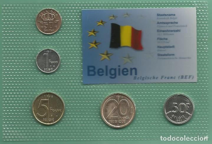Blister De Bélgica Con 5 Monedas De 5 Valores D Comprar Monedas