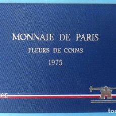 Monedas antiguas de Europa: CARTERA SET ESTUCHE , 9 MONEDAS PARIS FRANCIA 1975 , CON LA DE 50 FRANCOS PLATA , ORIGINAL. Lote 139311298