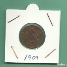 Monedas antiguas de Europa: BELGICA: 2 CENT 1909. DES BELGES. MBC. Lote 139658502