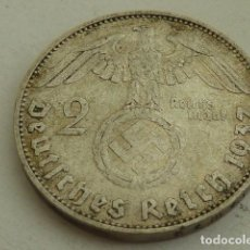 Monedas antiguas de Europa: MONEDA DE PLATA 2 MARCOS 1937 CECA D, MUNICH, ALEMANIA NAZI, MARISCAL PAUL VON HINDENBURG. Lote 140207902